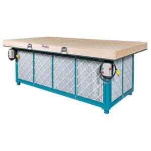 "Dynabrade 64654 48"" (122 cm) W x 96"" (422 cm) L Downdraft Sanding Table, 460 V (AC)"