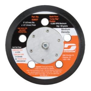 "Dynabrade 50607 5"" Dia. Vacuum Disc Pad, Hook-Face, Long Nap"