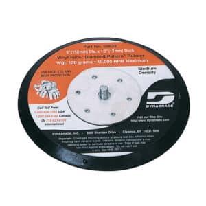 "Dynabrade 50633 6"" Dia. Vacuum Disc Pad, Rubber-Face"