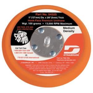 "Dynabrade 54325 5"" Dia. Non-Vacuum Disc Pad, Hook-Face, Short Nap"