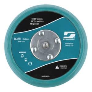 "Dynabrade 54325T 5"" Teal Dia. Non-Vacuum Disc Pad, Hook-Face, Short Nap"