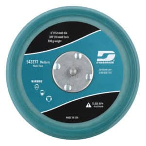 "Dynabrade 54327T 6"" Teal Dia. Non-Vacuum Disc Pad, Hook-Face, Short Nap"