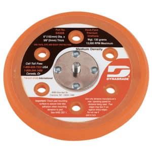 "Dynabrade 54328 6"" Dia. Vacuum Disc Pad, Hook-Face, Short Nap"