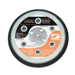 "Dynabrade 54331 6"" Dia. Vacuum Disc Pad, Hook-Face, Short Nap"