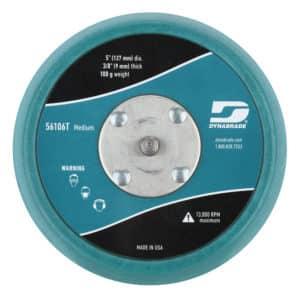 "Dynabrade 56106T 5"" Dia. Non-Vacuum Disc Pad, Vinyl-Face, Teal"