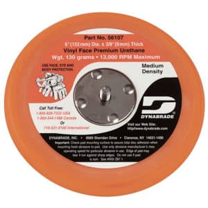 "Dynabrade 56107 6"" Dia. Non-Vacuum Disc Pad, Vinyl-Face"