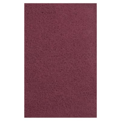 "Dynabrade 79447 6"" x 9"" DynaBrite General Purpose Maroon Hand Pad, 60/Box"