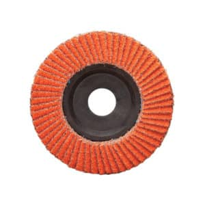 "Dynabrade 77762 4-1/2"" Dia. x 7/8"" Center Hole, 40 Grit, Type 27, Ceramic DynaCut Flap Disc, 10/pack"