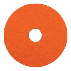 "Dynabrade 79335 5"" Dia. x 7/8"" Center Hole, 60 Grit, Ceramic DynaCut Fiber Disc, 25/box"