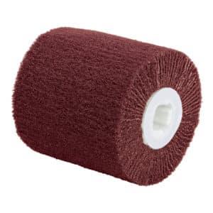 "Dynabrade 79492 4-1/4"" Dia. x 4"" W x 5/8""-11 Center Thread, Medium, DynaBrite Surface Conditioned Flap Roll"