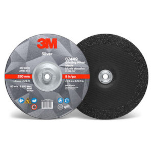 3m-87449 silver-depressed-center-grinding-wheel-9""