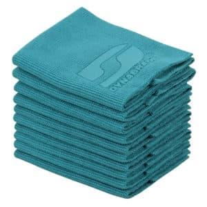 """Dynabrade 90123 - 12"""" x 12"""" Premium Microfiber Wipe, 10-Pack, Teal"""