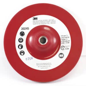 3M 28891, Hook and Loop Disc Pad Holder 9145CP, 4-1/2 in x 7/8 in Center Post 5/8-11 Internal, 7100101156