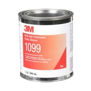 3M 19811, Nitrile High Performance Plastic Adhesive 1099, Tan, 1 Quart Can, 7000000797, 12/case