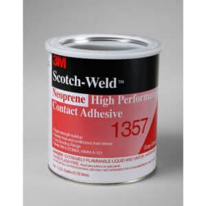 3M 19894, Neoprene High Performance Contact Adhesive 1357, Gray-Green, 1 Gallon Can, 7000000803, 4/case