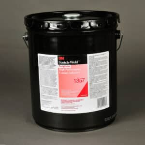 3M 19897, Neoprene High Performance Contact Adhesive 1357, Gray-Green, 5 Gallon Pour Spout Drum (Pail), 7000000804