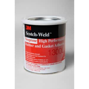 3M 19927, Neoprene High Performance Rubber and Gasket Adhesive 1300L, Yellow, 1 Quart Can, 7000000806, 12/case