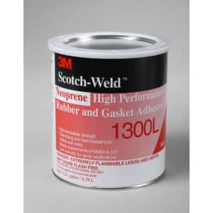 3M 19931, Neoprene High Performance Rubber and Gasket Adhesive 1300L, Yellow, 1 Gallon Can, 7000000807, 4/case