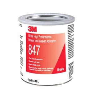 3M 19723, Nitrile High Performance Rubber and Gasket Adhesive 847, Brown, 1 Gallon Can, 7000121194, 4/case