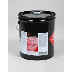 3M 19725, Nitrile High Performance Rubber and Gasket Adhesive 847, Brown, 5 Gallon Drum (Pail), 7000121195