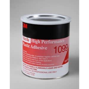 3M 19813, Nitrile High Performance Plastic Adhesive 1099, Tan, 1 Gallon Can, 7000121198, 4/case