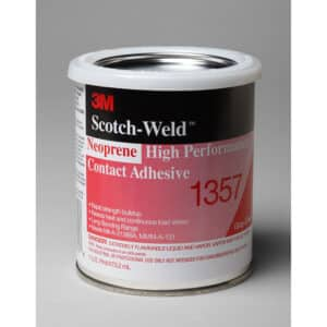3M 19890, Neoprene High Performance Contact Adhesive 1357, Gray-Green, 1 Pint Can, 7000121201, 12/case
