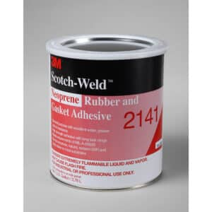 3M 20244, Neoprene Rubber and Gasket Adhesive 2141, Light Yellow, 1 Gallon Can, 7000121215, 4/case