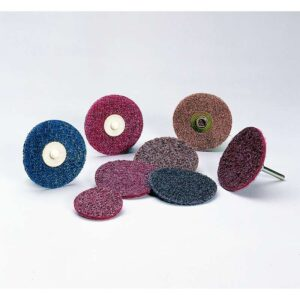 Standard Abrasives 848331, Quick Change Surface Conditioning XD Disc, A/O Coarse, TSM, BRN, 2 in, Die QS200PM, 7100142471