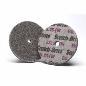 3M 13716, Scotch-Brite EXL Unitized Wheel, XL-UW, 2S Fine, 3 in x 1/4 in x 1/4 in, 7000000692