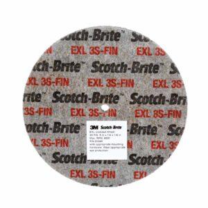 3M 24326, Scotch-Brite EXL Unitized Wheel, XL-UW, 3S Fine, 3 in x 1/4 in x 1/4 in, SPR 20887A, 7100031086