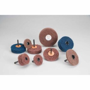 Standard Abrasives 880476, Buff and Blend HS Wheel, 3 in x 3 Ply x 1/4 in A MED, 7100095564