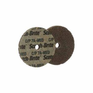 3M 08939, Scotch-Brite Cut and Polish Unitized Wheel, CP-UW, 7A Medium, 2 in x 1/8 in x 1/8 in, 7100099610