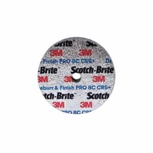 3M 90120, Scotch-Brite Deburr and Finish Pro Unitized Wheel, DP-UW, 8C Coarse+, 3 in x 1/4 in x 1/4 in, 7100105529